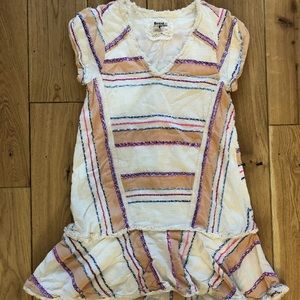 Anthropologie Cream Striped Dress